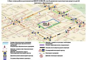 Схема безопасного маршрута учащихся